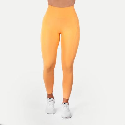 High Waist Leggings, Light Orange