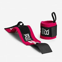 Womens Wrist Wrap hot pink/white