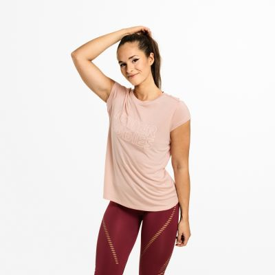 Waverly Tee, Peach Beige