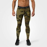 Hudson Logo Tights dark green camo