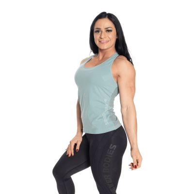Seamless mesh tank, Teal green