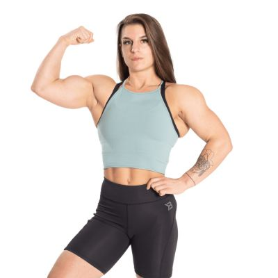 Performance Crop Halter Teal Green